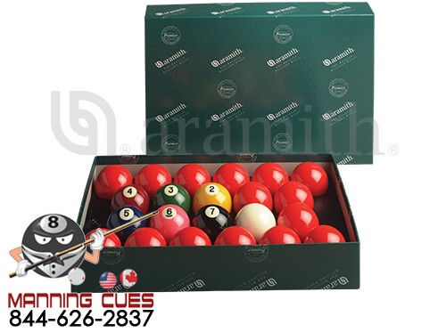 "Aramith Premier 2-1/8"" Numbered Snooker Ball Set"