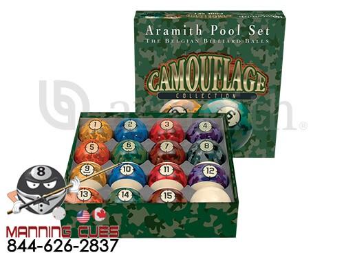 Camouflage Aramith Pool Ball Set