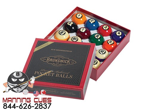 BRUNSWICK CENTENNIAL POOL BALL SET