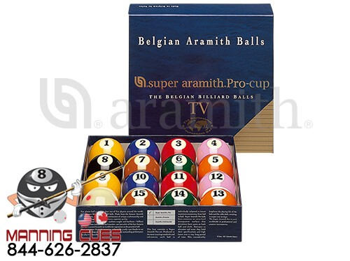 Aramith TV Pro Cup Pool Ball Set