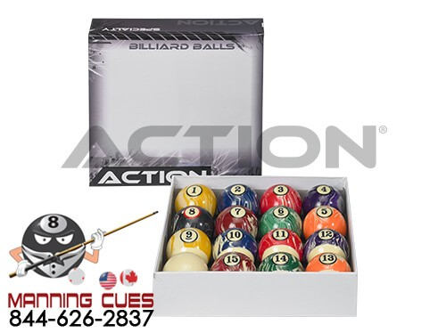 Action Pool Ball Set - White Swirl Marble