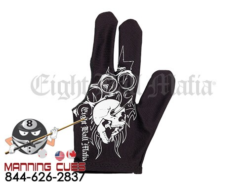 Eight Ball Mafia Billiard Glove - Skull and Brass Knuckles