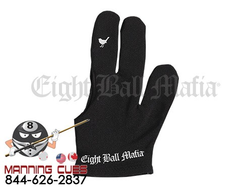 Eight Ball Mafia Billiard Glove - Little Birdie Flip Finger