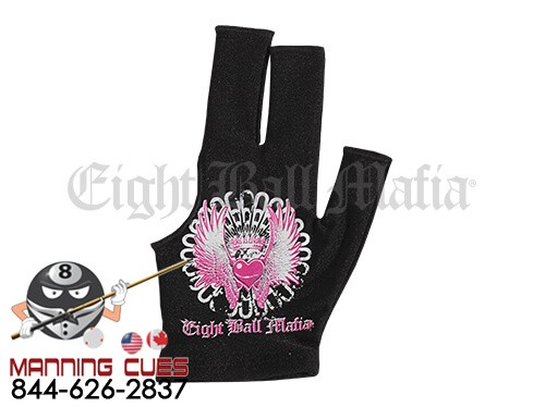 Eight Ball Mafia Billiard Glove - Winged Heart