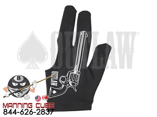 Outlaw Six Shooter Billiard Glove