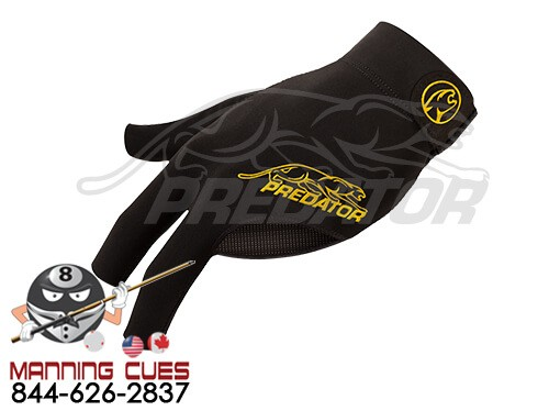 Predator Second Skin Black and Yellow Pool Cue Glove