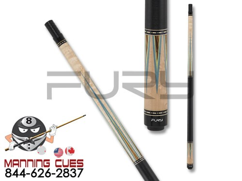 Fury FUCI04 Birdseye Maple & Zebrawood Pool Cue