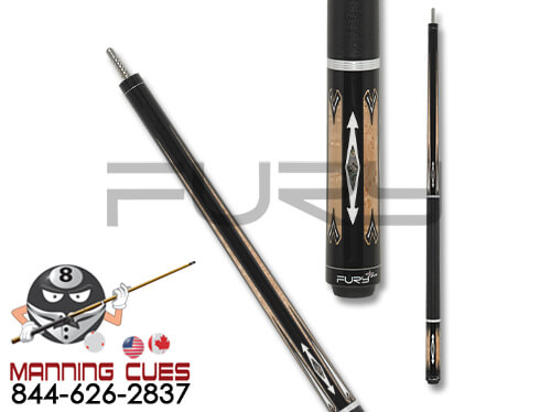 Fury FUDA05 Ebony with Maple Points Pool Cue