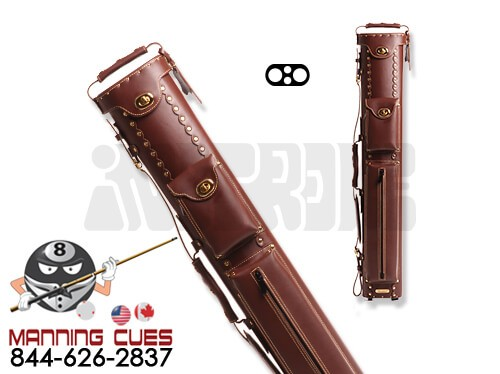 Instroke 2B/2S Chestnut Leather Cowboy Cue Case