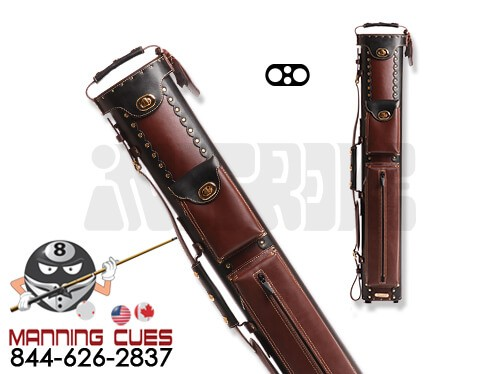 Instroke 2B/2S Black & Chestnut Leather Cowboy Cue Case