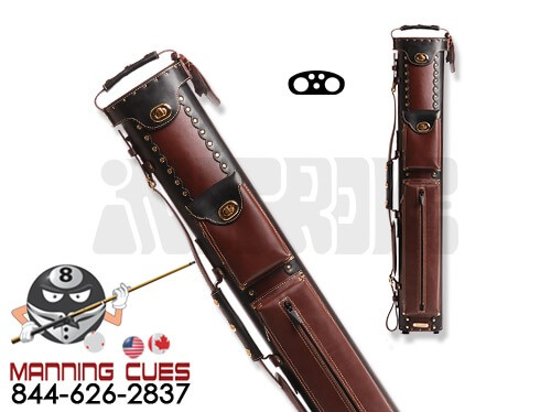 Instroke 2B/3S Chestnut & Black Leather Cowboy Cue Case