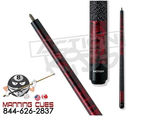 "Action Kids JR12 - Burgundy Marble 48"" cue"