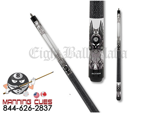 """Action Kids JREBM01 Winged 8 Ball 52"""" Pool Cue"""