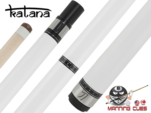 Katana Break Cue with White Ferrule G2 Hard Tip - KATBK04