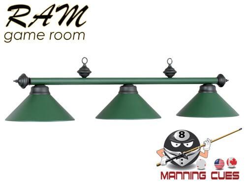 Economy matte green metal 3 light fixture