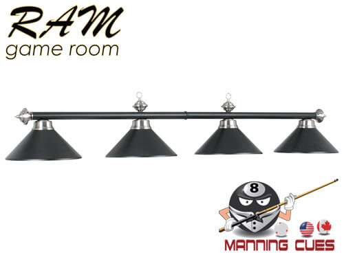 Economy matte black / stainless metal 4 light fixture