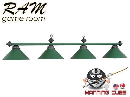 Economy matte green metal 4 light fixture
