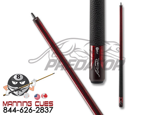 Predator P3 Burgundy Pool Cue Luxe Wrap with 12.4 or 12.9 Revo Shaft