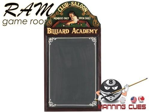 Billiard Academy Chalk Board