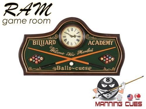 Billiard Academy Clock