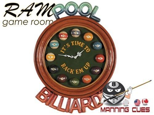 Pool Billiards Clock