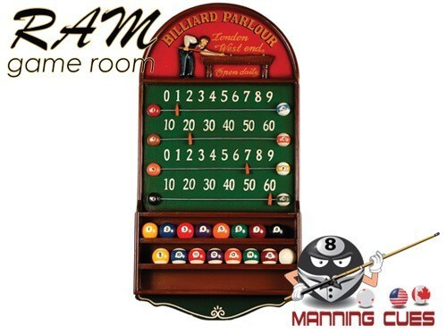 Billiard Parlour Scoreboard with Ball Holder