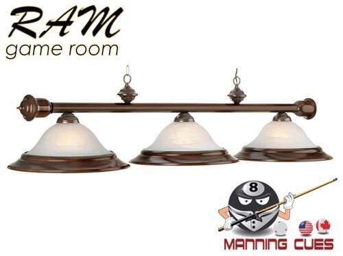 Mahogany 3 light fixture