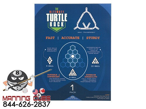 The Turtle Rack Ultimate for 8, 9 or 10 Ball