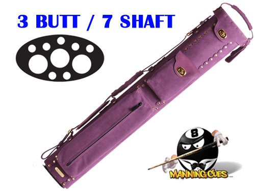 Instroke 3B/7S Custom Purple Baffalo Cue Case