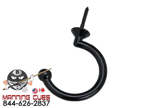 Small Black Facemount Hook