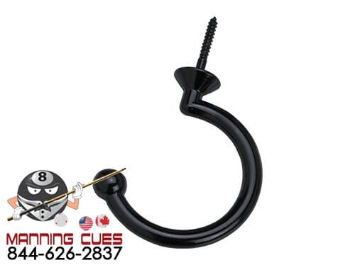 Small Black Facemount Hook