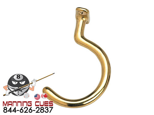 Small Brass Facemount Hook