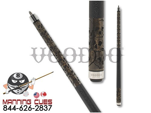 Voodoo Grey VOD31 Clustered Skulls Pool Cue