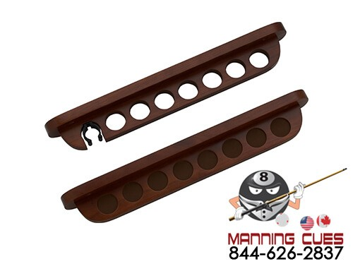 7 Cue 2 Piece Wall Rack with Bridge Clip