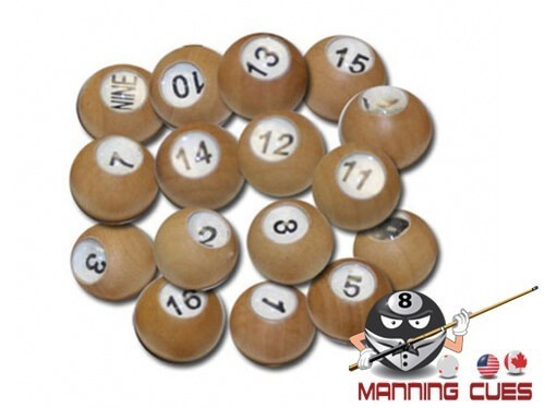 Wood Tally Pool Balls