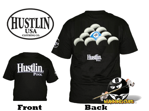 Hustlin 10 Ball Rack T-Shirt Black Mens