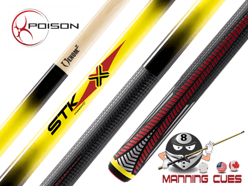 Poison VX4 STK Yellow Pool Cue