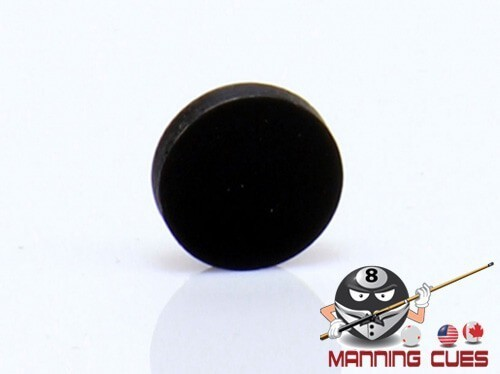 "Black 1/2"" Round Pool Table Rail Sites"