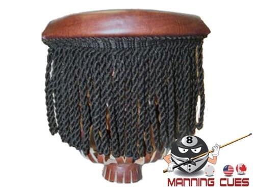 Hood #6 Traditional Mahogany with Black Fringe Pockets