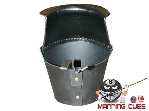 Black Leather Drop Pockets