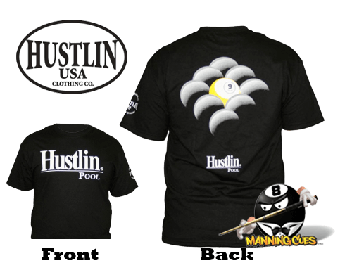 Hustlin 9 Ball Rack T-shirt - Black Mens