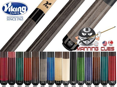 Viking Linen Wrap V-Pro Pool Cues - 15 Colors