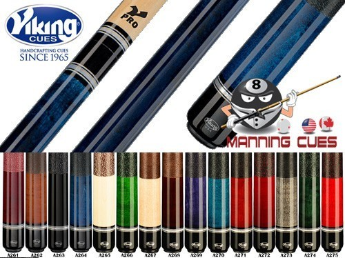 Viking Pearl Rings Linen Wrap V-Pro Pool Cues - 15 Colors