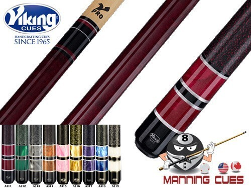Viking Premium Pearl Rings Linen Wrap ViKore Pool Cues - 9 Colors