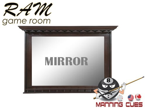 Bar Mirror Solid Wood - Black