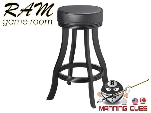 Bar stool padded vinyl seat - Black