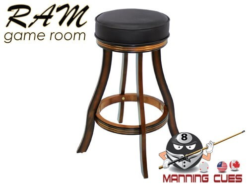 Bar stool padded vinyl seat - Chestnut