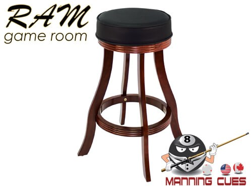 Bar stool padded vinyl seat - English Tudor