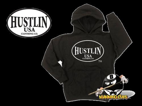Hustlin Black Mens Hoodie Sweat Shirt