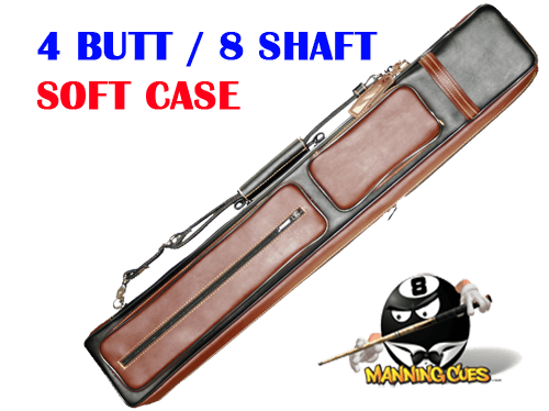 Instroke 4B/8S Black & Brown Soft Leather Cowboy Cue Case